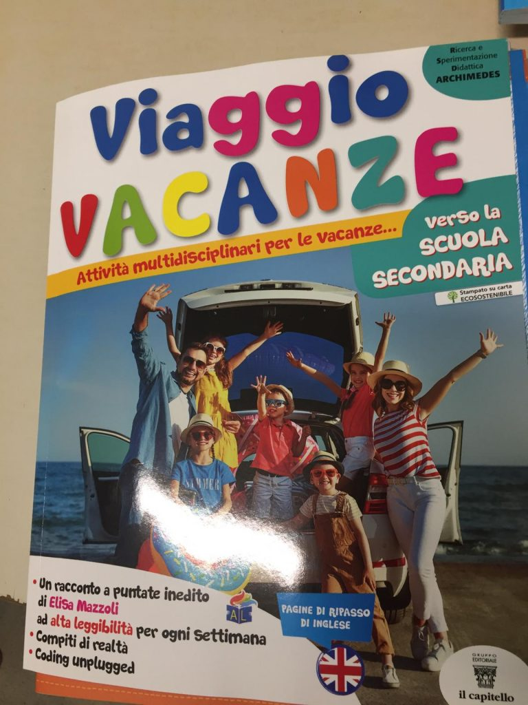 Libro compiti vacanze per le classi V della scuola primaria in passaggio alla scuola secondaria di I°