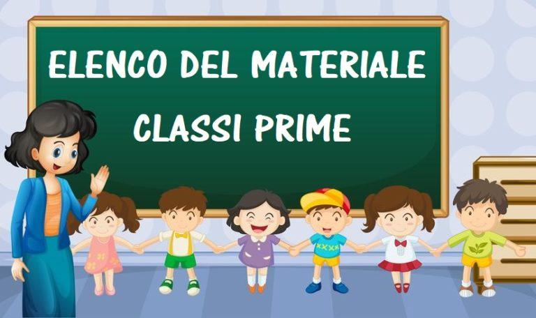 Elenco Materiale Classi Prime-Scuola Primaria