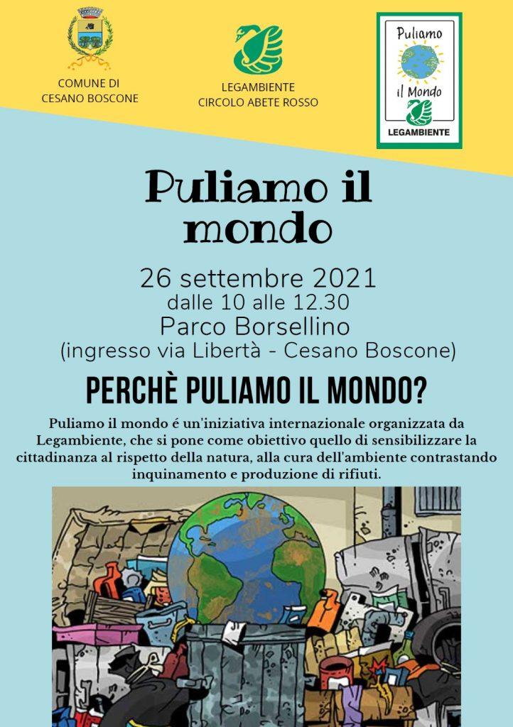 """""""Puliamo il mondo""""Lega Ambiente  – Comune di Cesano Boscone"""